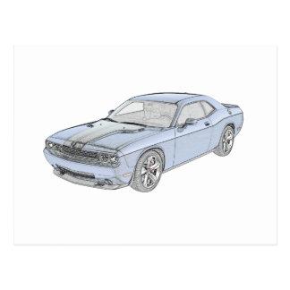 Dodge Challenger Postcard