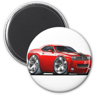 Dodge Challenger Red Car 2 Inch Round Magnet