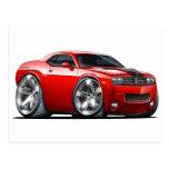 Dodge Challenger Red Car Postcards