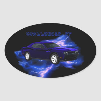 Dodge Challenger RT Oval Sticker