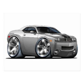 Dodge Challenger Silver/Grey Car Postcard