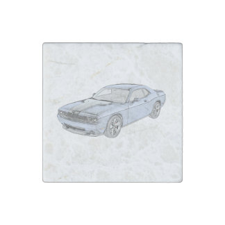 Dodge Challenger Stone Magnet