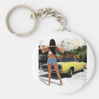 Dodge Charger Chick Key Chain