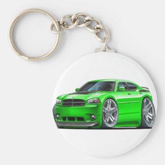 Dodge Charger Daytona Green Car Basic Round Button Keychain