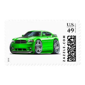 Dodge Charger Daytona Green Car Stamp