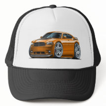 Dodge Charger Daytona Orange Car Trucker Hat