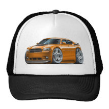 Dodge Charger Daytona Orange Car Trucker Hat