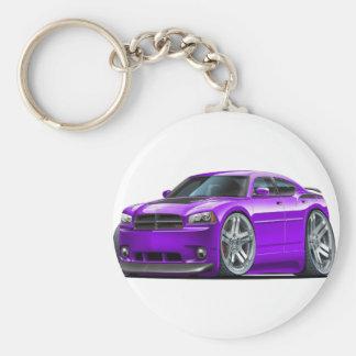 Dodge Charger Daytona Purple Car Basic Round Button Keychain