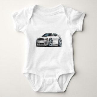 Dodge Charger Daytona White Car Baby Bodysuit