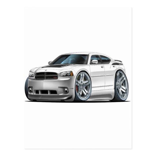 Dodge Charger Daytona White Car Postcard
