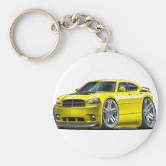 Dodge Charger Daytona Yellow Car Basic Round Button Keychain