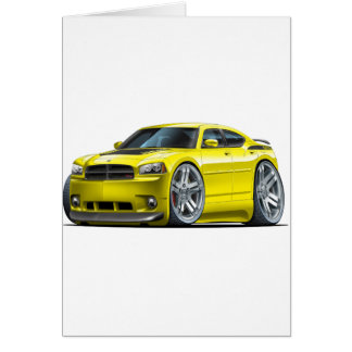 Dodge Charger Daytona Yellow Car Card