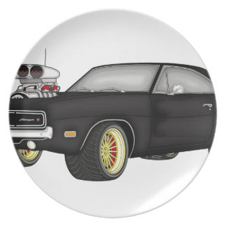 dodge charger dinner plate