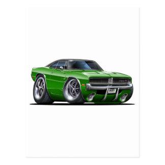 Dodge Charger Green Car Postcard
