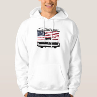 Dodge Charger Hoodie, an image on front and back Pullover