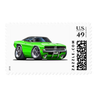 Dodge Charger Lime Car Postage