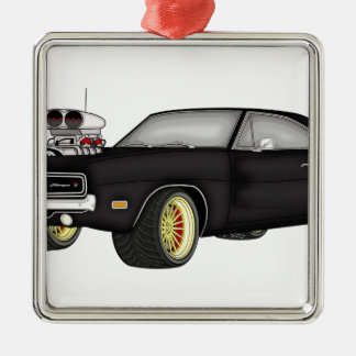 dodge charger metal ornament
