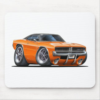 Dodge Charger Orange Car Mouse Pad