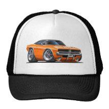 Dodge Charger Orange Car Trucker Hat