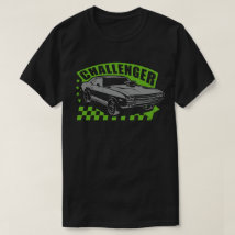 Dodge Charger Racing Muscle Car T-shirt Green