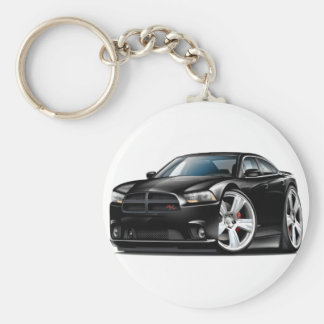 Dodge Charger RT Black Car Keychain