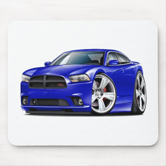 Dodge Charger RT Blue Car Mouse Pad