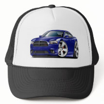 Dodge Charger RT DK Blue Car Trucker Hat