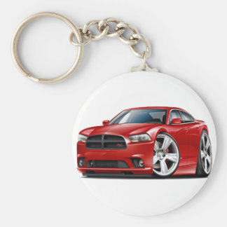 Dodge Charger RT Red Car Basic Round Button Keychain