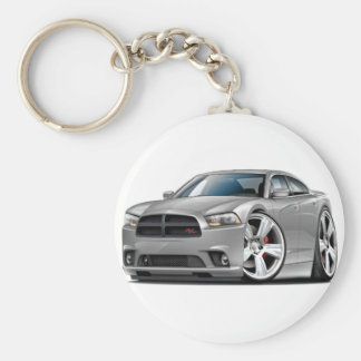 Dodge Charger RT Silver Car Keychains