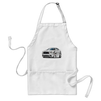 Dodge Charger RT White Car Adult Apron