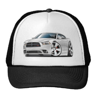 Dodge Charger RT White Car Trucker Hat