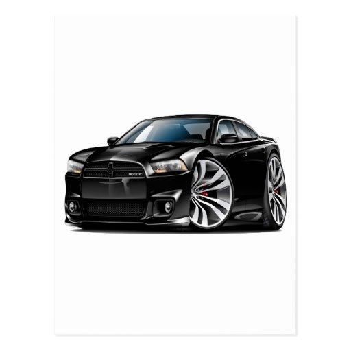 Dodge Charger SRT8 Black Car Postcard