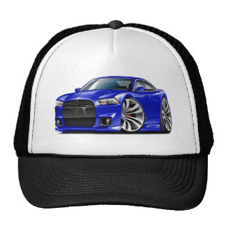 Dodge Charger SRT8 Blue Car Trucker Hat