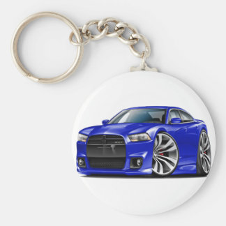 Dodge Charger SRT8 Blue Car Keychains