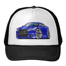Dodge Charger SRT8 Blue Car Trucker Hat