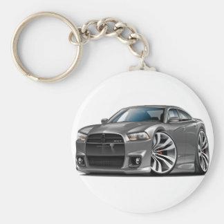 Dodge Charger SRT8 Grey Car Keychains