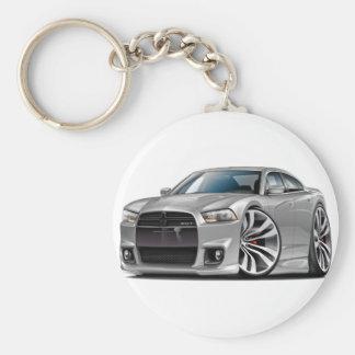 Dodge Charger SRT8 Silver Car Key Chain
