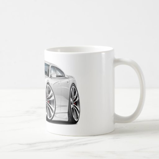 Dodge Charger SRT8 White Car Coffee Mugs