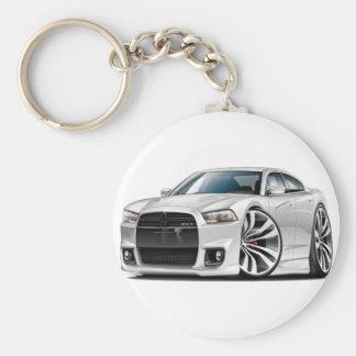 Dodge Charger SRT8 White Car Key Chain