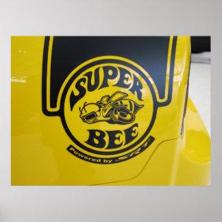 Dodge Charger SRT Super Bee Emblem Poster