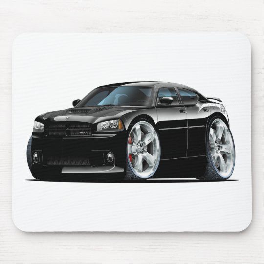 Dodge Charger Super Bee Black Car Mouse Pad