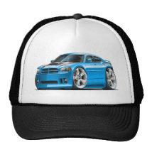 Dodge Charger Super Bee Blue Car Trucker Hat