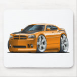 Dodge Charger Super Bee Orange Car Mouse Pad