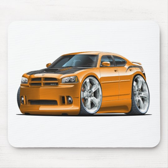 Dodge Charger Super Bee Orange Car Mouse Pad
