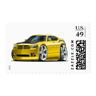 Dodge Charger Super Bee Yellow Car Postage