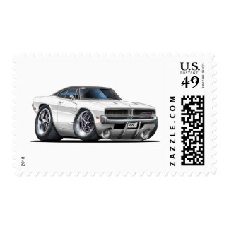 Dodge Charger White Car Postage