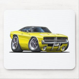 Dodge Charger Yellow Car Mouse Pad
