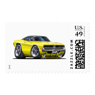 Dodge Charger Yellow Car Postage