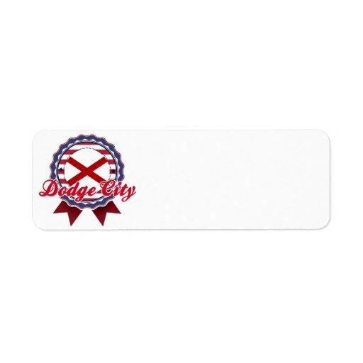 Dodge City, AL Custom Return Address Label
