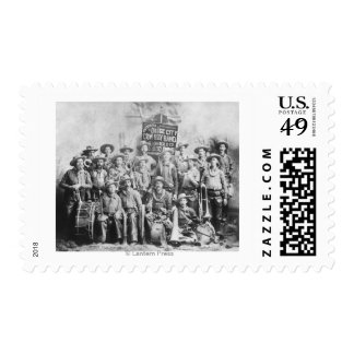 Dodge City Cow-Boy Band with Instruments Stamps